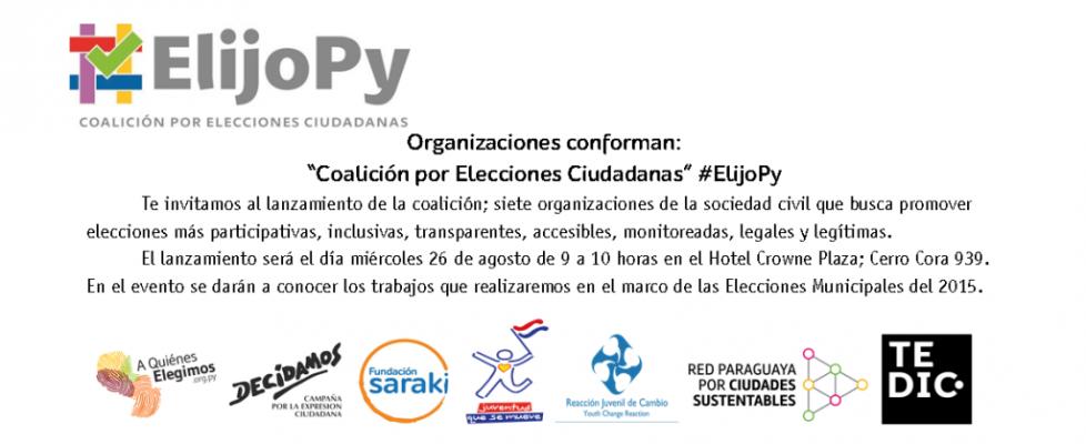 Lanzamiento de la Coalición de Elecciones Ciudadanas