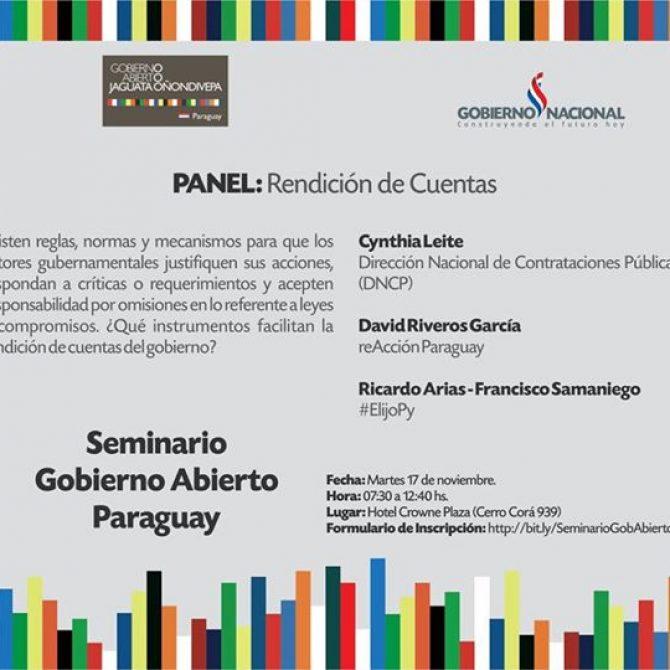 ElijoPy estuvo presente en el panel Participación Ciudadana en el Seminario de Gobierno Abierto